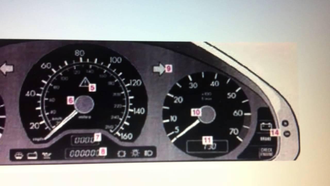 Mercedes c class w202 dashboard warning lights symbols for Mercedes benz indicator lights