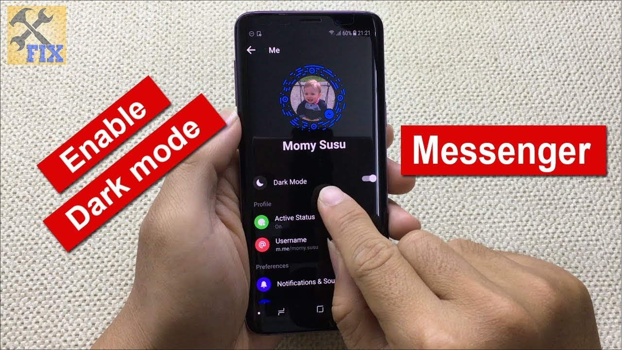 How to enable Dark mode on Facebook messenger in 60 Seconds