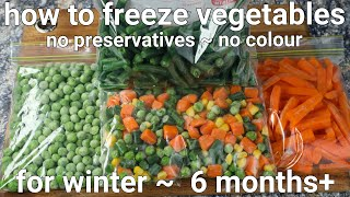 how to freeze vegeтables at home for winter in 3 easy steps | diy frozen green peas, beans, carrots