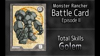 Monster Rancher Battle Card Episode II - The skills of Golem