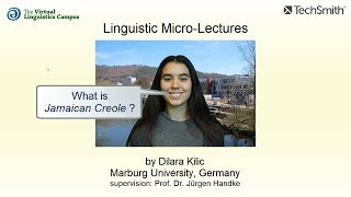 Linguistic Micro-Lectures: Jamaican Creole