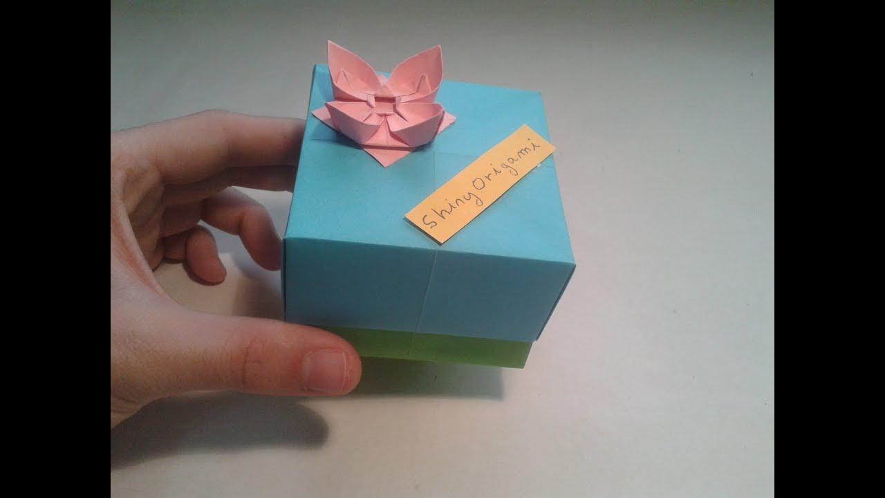 Como hacer una caja de papel origami box youtube - Como hacer cajitas de cartulina ...