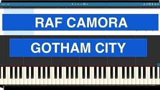 RAF Camora - Gotham City - Piano Cover - Tutorial Synthesia