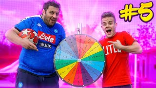⚽ FOOTBALL WHEEL CHALLENGE #5 - ENRY LAZZA vs TONY TUBO