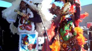 Mardi Gras 2010 Indians Music New Orleans French Quarter