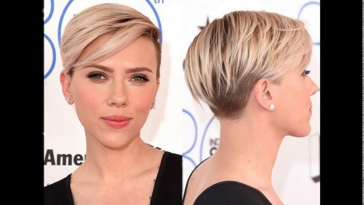 Asymmetric Short Haircut With A Temple Undercut Youtube