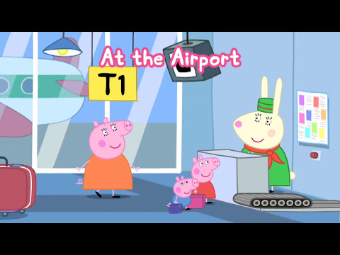 Greta Gris 🐷 Semester Spel - Bada, Flyg & Glass - Peppa Pig Svenska Holiday - English Episodes