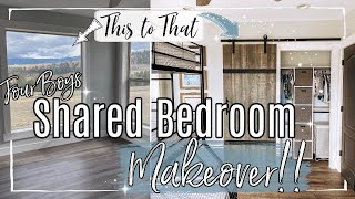 DIY KIDS BEDROOM MAKEOVER 2020 :: INSANE ROOM TRANSFORMATION :: FARMHOUSE MAKEOVER | EPISODE 1