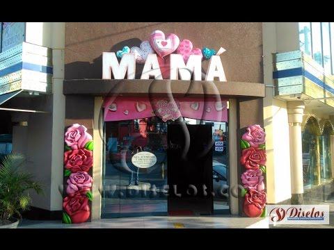 Decoraci n comercial por el d a de la madre youtube - Decoracion dia de la madre ...