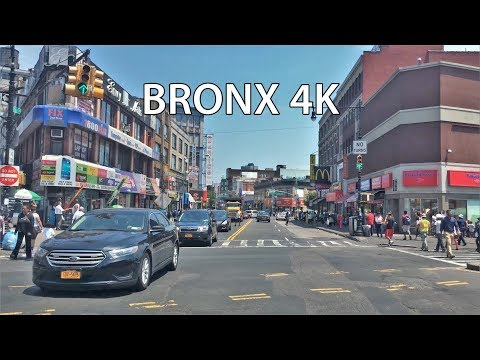 Driving Downtown - Bronx New York City NY USA