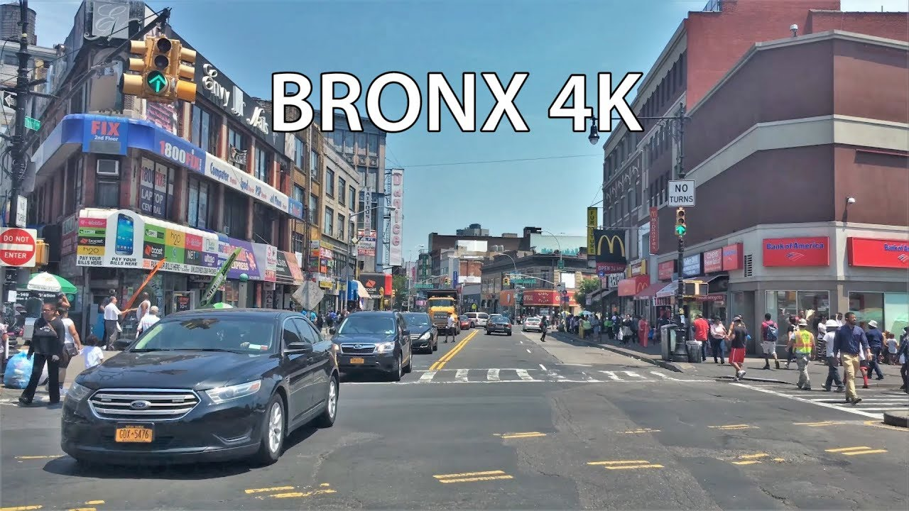Driving Downtown Bronx 4k New York City Usa Youtube