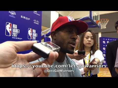 ANDRE IGUODALA, Golden State Warriors media availability in Shanghai, NBA China Games