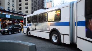 MTA New York City Bus 2000 New Flyer D60HF 1009 On The 1 Train Subway Shuttle