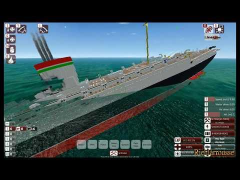 From the Depths, Sinking SS Rex (Minecraft Design)