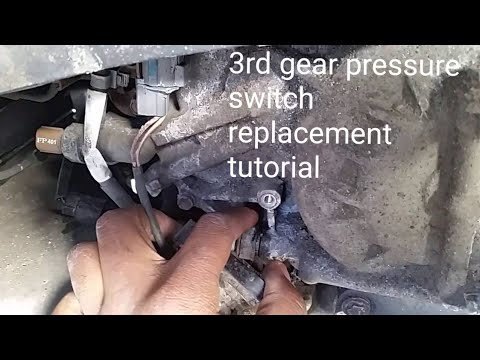 ACURA HONDA P1739 P0848 HOW TO REPLACE TRANSMISSION 3RD GEAR PRESSURE SWITCH TUTORIAL