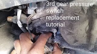 HOW TO REPLACE ACURA TL MDX TRANSMISSION 3RD GEAR  PRESSURE SWITCH HARD SHIFTING FIX TUTORIAL