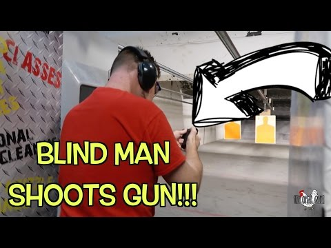 Blind Man Shooting A Gun