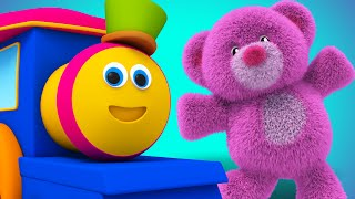 Bob The Train - teddy bear teddy bear turn around | nursery rhyme | childrens rhyme | Kids Tv