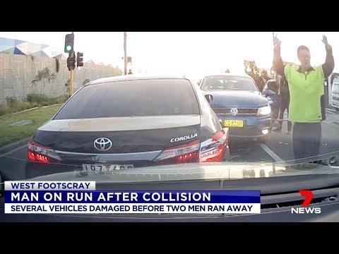 Crash And Run Africans.(West Footscray) Seven News