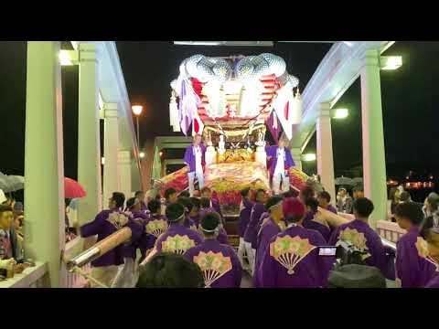 令和元年 琴弾八幡宮 秋季大祭 10/19  坂本太鼓台 三架橋