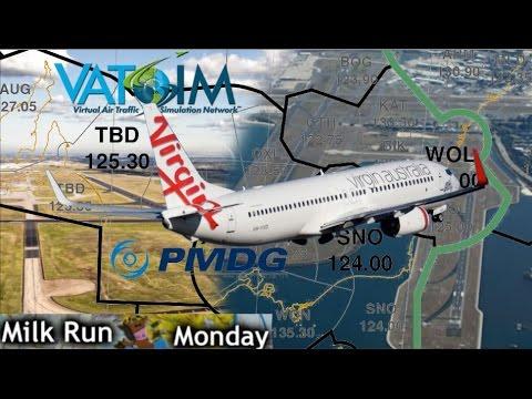 PMDG 737 on Vatsim Milkrun YMML-YSSY