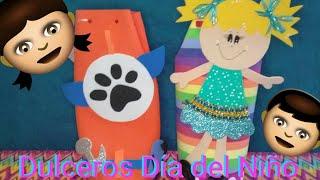 Dulcero para Día del Niño   Dulcero Morralito de Foamy//Bolsita de Foamy.