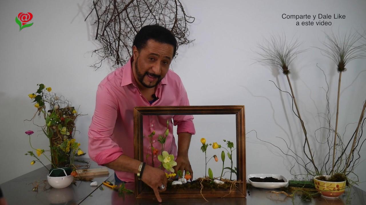 Floramour 2 Cómo hacer Marco con Flores Curso Arreglos florales ...