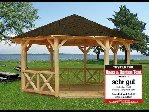 pavillon selber bauen oder holzpavillon gartenpavillo doovi. Black Bedroom Furniture Sets. Home Design Ideas