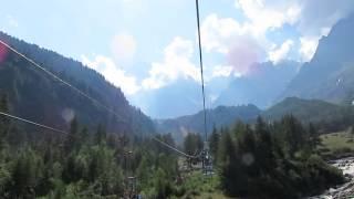 Gambar cover Pecetto Alpe Burki ski lift near Staffa and Macugnaga, Italy on the Tour de Monte Rosa