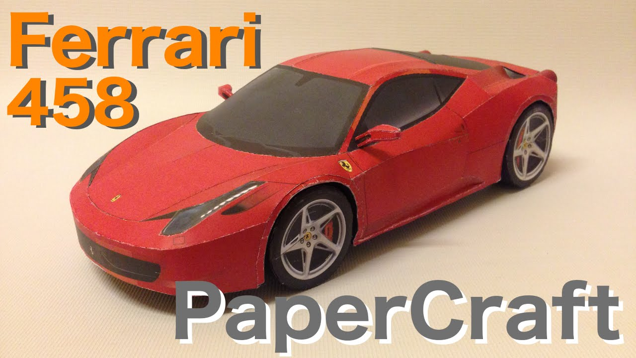 Papercraft How to make Ferrari 458 PaperCraft --- full build time-lapse.