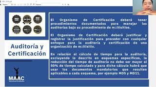 MD1:2018 Auditoría y Certificación de un Sistema de Gestión operador por una organización multisitio