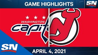 NHL Game Highlights | Capitals vs. Devils - Apr. 4, 2021