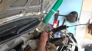 Смазка тросика газа на Mazda Demio