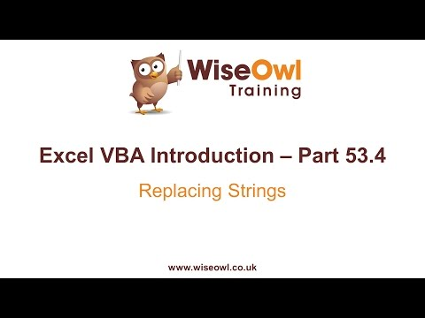 Excel VBA Introduction Part 53.4 - Replacing Strings