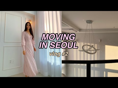 MOVING VLOG #2: I'm allergic to our new apartment in Seoul?! (settling in, unpacking, chatting,GRWM)