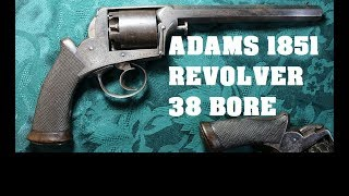 .50 Caliber Revolver - Adams 1851 - Giant British Victorian Handgun