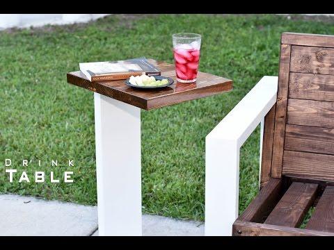 Modern Drink Table Indoor- Outdoor  DIY Build