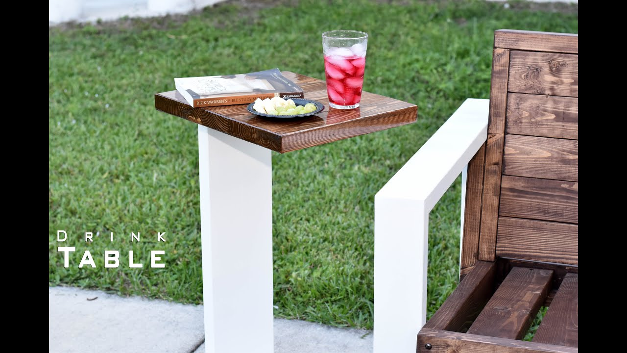 Small Drink Table Part - 40: Modern Drink Table Indoor- Outdoor | DIY Build - YouTube