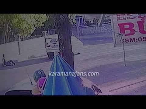 Karaman'daki silahlı çatışma anı güvenlik kamerasına yansıdı