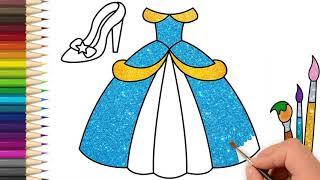 Cách vẽ chiếc váy công chúa dễ dàng từng bước