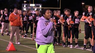 Zoe Schneider - WWS v Naperville North Game (2012) - National Anthem