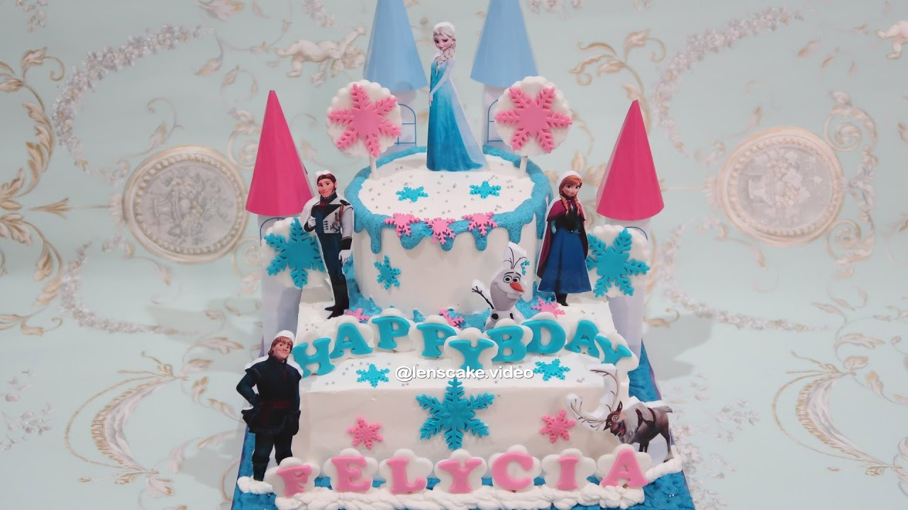 How To Make Birthday Cake Frozen Elsa Cara Membuat Kue Ulang Tahun Frozen