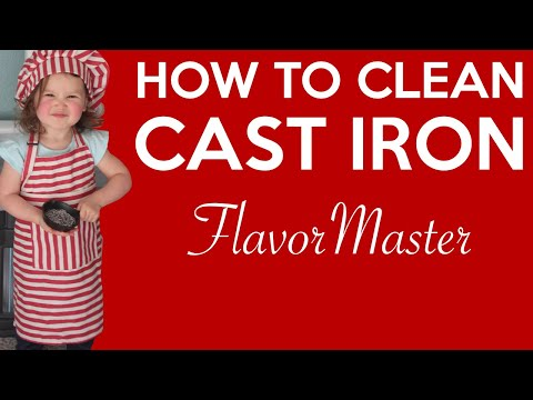 Clean Your Cast Iron Skillet Fast and Easy by FlavorMaster Cast Iron Skillet Cleaner