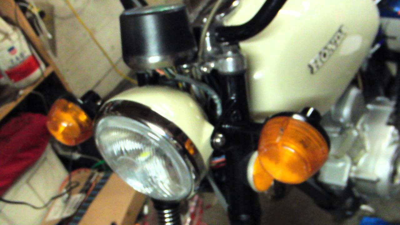 1972 Honda CL100, 6v to 12v conversion, All LEDs, First fire, Eric trek97