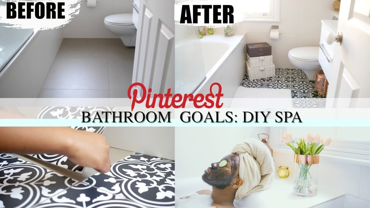 HOW TO UPGRADE YOUR BATHROOM TO PINTEREST BATHROOM GOALS  HOME SPA ...