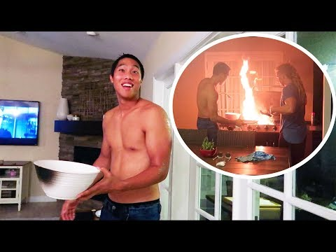 HE ALMOST BURNED OUR HOUSE DOWN!