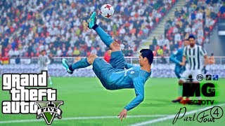 CRISTIANO RONALDO GTA 5 REAL LIFE MOD #1 BICYCLE KICK