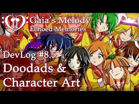 Gaia's Melody EM2 DevLog #8.5 - Doodads & Character Art (RPG Maker MV)
