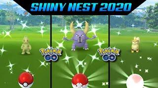 Shiny pokemon nest 2020    new nest pokemon go  