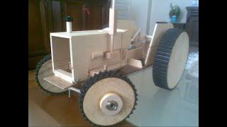 Ahşap Traktör Wooden Tractor Rc